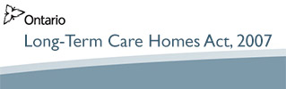 Long-Term Care Homes Act, 2007