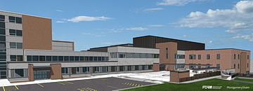 Artist Rendering of St. Joseph's Hospital East Wing - FORM Architecture Engineering and Montgomery Sisam Architects