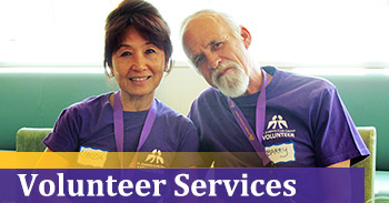 Click here to learn more about our Volunteer Services