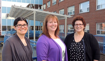 <strong>Team</strong> (from left to right): <strong>Hilary Mettam</strong>, Community Development Lead; <strong>Jill Marcella</strong>, Coordinator; <strong>Marlene Benvenuto</strong>, Palliative Care Telemedicine Nurse Consultant